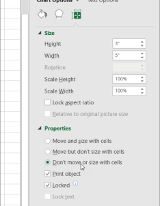 Properties in format chart area pane also move or resize  excel rh support office