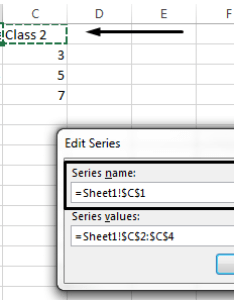 To select  different cell use as the legend name click into series also change names excel rh support office