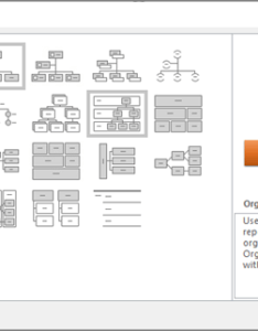 Shows the smartart dialog box with hierarchy selected also create an organization chart office support rh