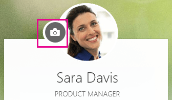 Click the camera icon to change your photo - www.office.com/setup