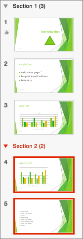 Status Bar In Powerpoint : status, powerpoint, Organize, PowerPoint, Slides, Sections, Office, Support