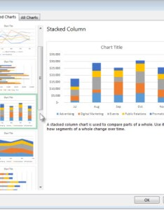 Recommended charts tab in the insert chart dialog box also create  with excel rh support office