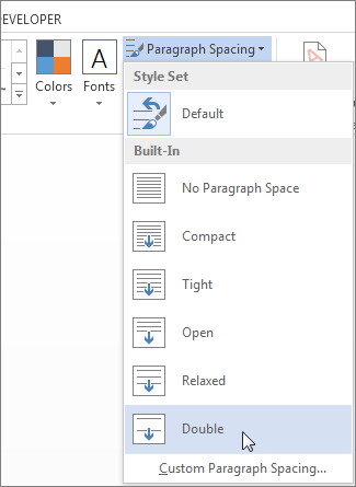 Where Is Line Spacing In Word : where, spacing, Double-space, Lines, Document