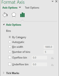 Configure histogram bins also create  office support rh