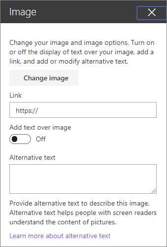 Image web part toolbox