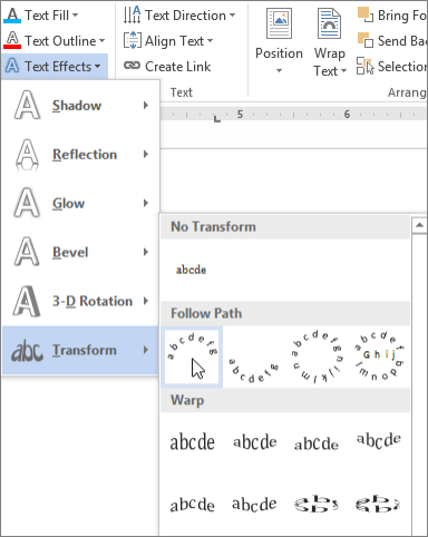 How To Arch Text In Word : Insert, WordArt, Office, Support