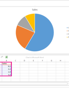 The spreadsheet that appears after picking chart you want also add  pie office support rh