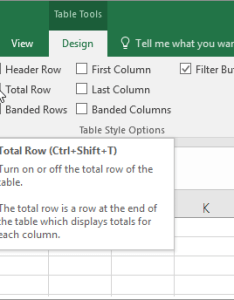 Total the data in an excel table also office support rh