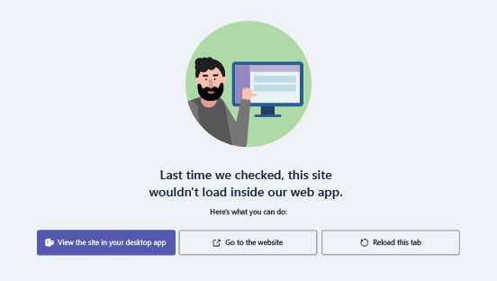 Options when you have problems loading a website