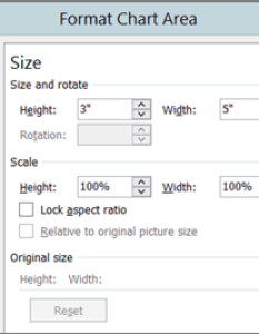 Size tab in format chart area also move or resize  excel rh support office