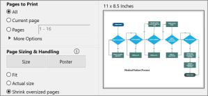 Print a Visio Online diagram  Visio