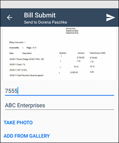 Kaizala Submit Bill