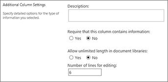 Multiline column text for document libraries