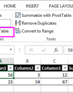 Using the resize table option from tools also  by adding or removing rows and columns excel rh support office