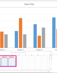 Spreadsheet showing default data for chart also use charts and graphs in your presentation powerpoint rh support office