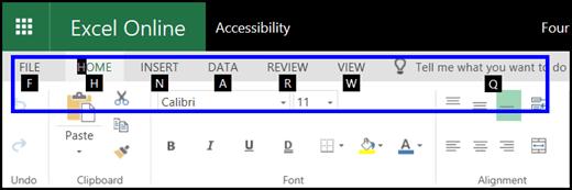 Keyboard shortcuts in Excel Online - Excel