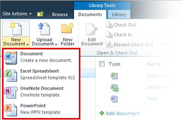 Add multiple Office templates to a document library - SharePoint