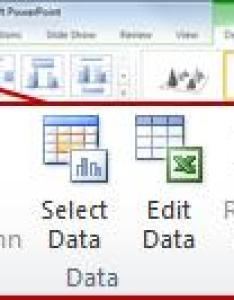 The design tab under chart tools also insert  linked excel in powerpoint rh support office