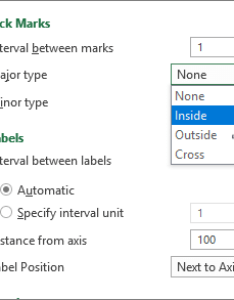 Tick mark and labels section of format axis panel also change the display chart axes office support rh