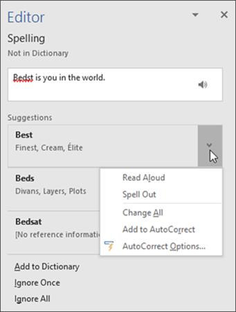 Editor Pane for spelling - www.office.com/setup
