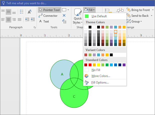 how to make a venn diagram 3 wire circuit create visio select color