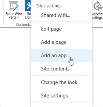 Add an application (list, library)