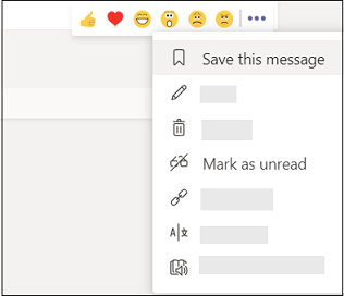 Mark a message as saved or unread