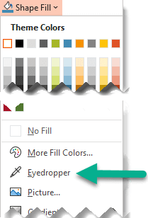 Eyedropper In Word : eyedropper, Eyedropper, Match, Colors, Slide, Office, Support