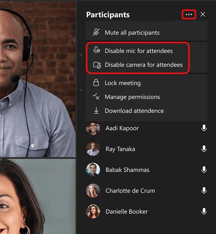 Verbesserungen der Audio-Berechtigungseinstellungen für Teilnehmer