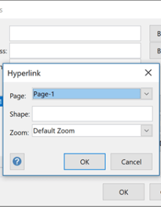 Hyperlink dialog box also add connectors between shapes office support rh