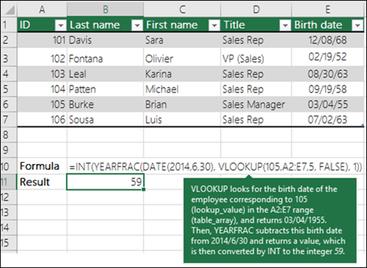 VLOOKUP Example 4
