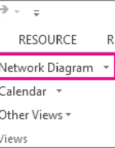 Click network diagram to open the view also create  project rh support office