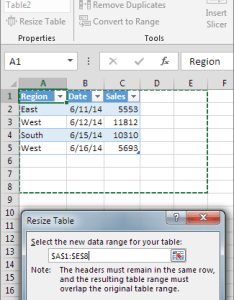 Resize table also  by adding or removing rows and columns excel rh support office