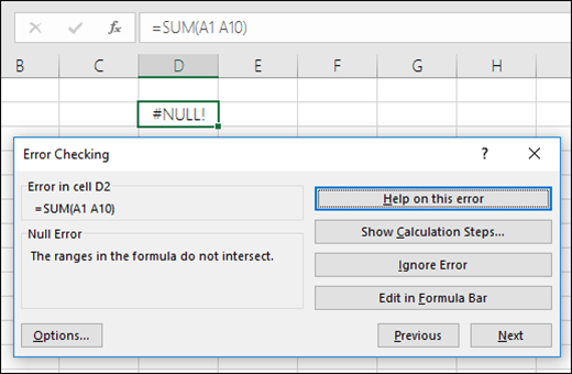 Move the Error Checking box below the Formula Bar for finding and correcting formula errors.