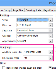 Configure which connector lines have jumps and their style also add or remove line visio rh support office