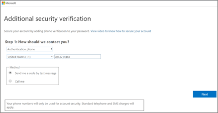 Choose your authentication method and then follow the prompts on the screen.