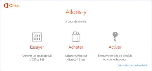 Utiliser des clés de produit avec Office 365, Office 2016