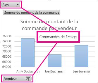 Graphique croisé dynamique avec contrôles de filtrage
