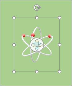 Modèle3D affichant des poignées de rotation