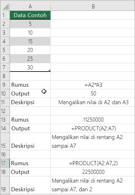 Cara Membuat Perkalian Otomatis Di Excel : membuat, perkalian, otomatis, excel, Mengalikan, Membagi, Angka, Excel, Dukungan, Office