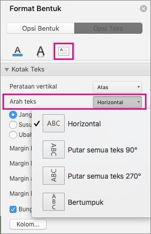 Cara Merubah Tabel Horizontal Menjadi Vertikal Pada Word : merubah, tabel, horizontal, menjadi, vertikal, Mengatur, Posisi, Dalam, Kotak, Bentuk, Office, Untuk, Dukungan