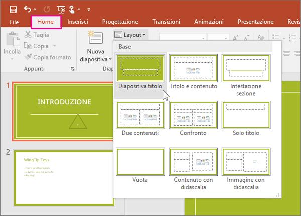 Informazioni sugli schemi diapositiva  Supporto di Office