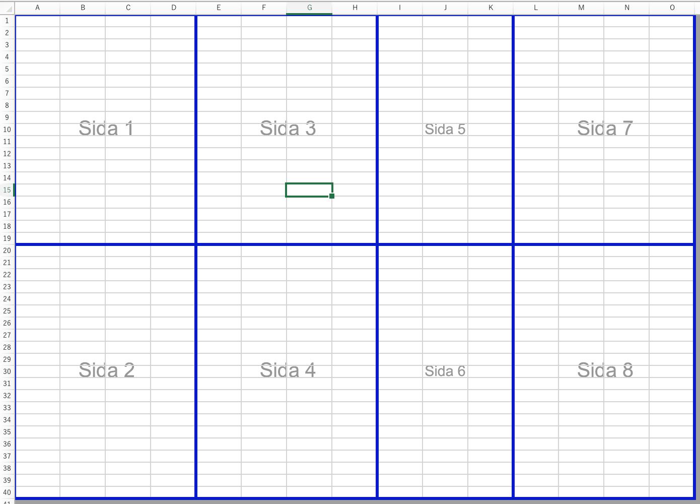 Skapa Manuella Sidbrytningar I Ett Kalkylblad Med Excel