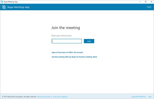 加入商務用 Skype 會議 Skype 會議應用程式 (商務用 Skype Web App) - 商務用 Skype