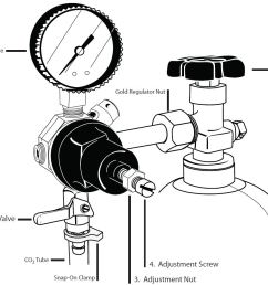 this guide assumes that your co2 regulator is firmly and properly attached to the co2 cylinder and that you are using the single gauge regulator that your  [ 1302 x 940 Pixel ]