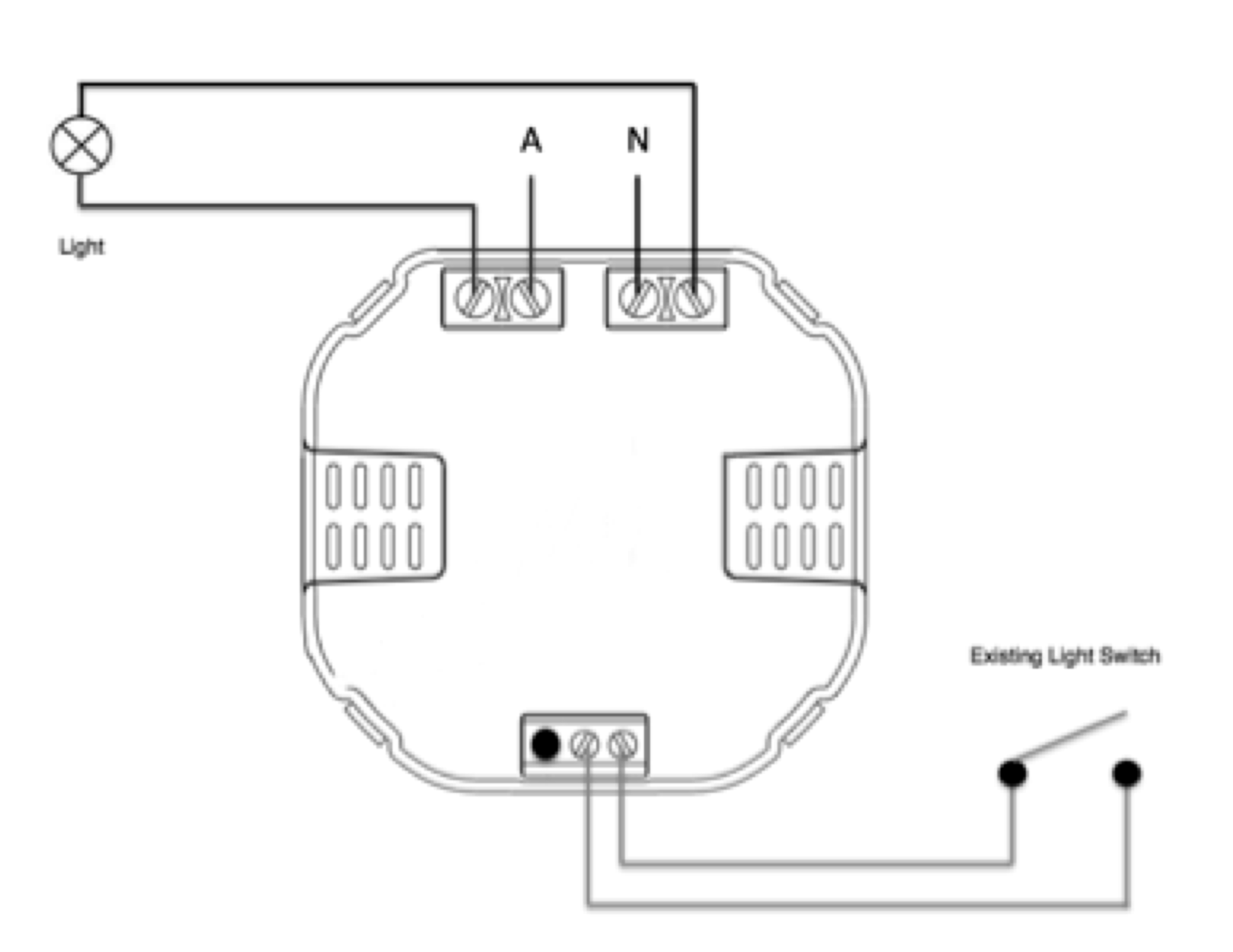 hight resolution of line active red wire connect to live terminal of nexus relay