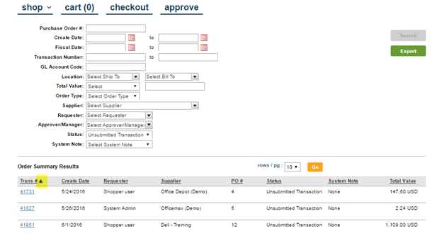 Order Summary, Extracts and Dashboard ESM Purchase