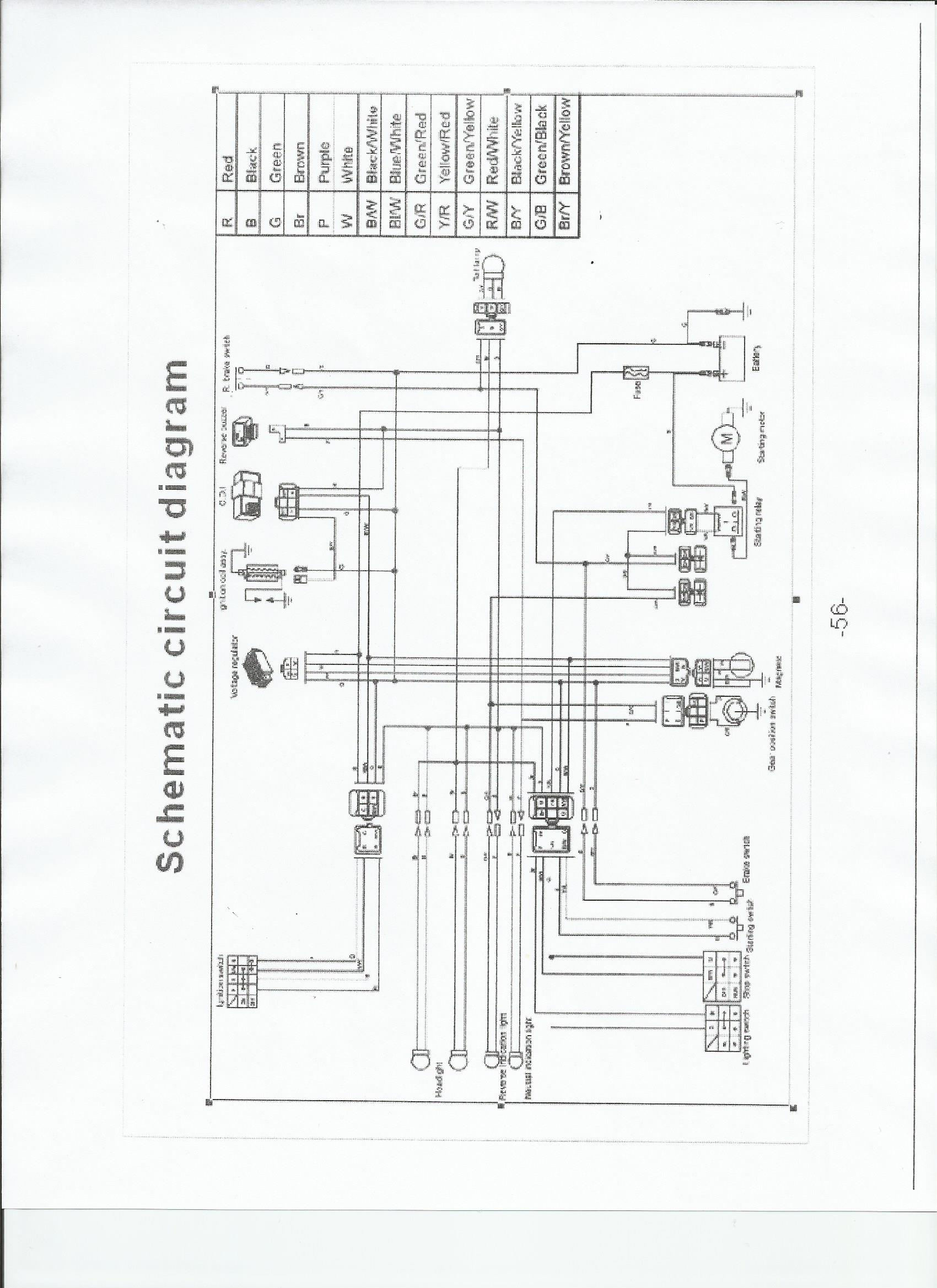 chinese scooter wiring schematic [ 1700 x 2338 Pixel ]