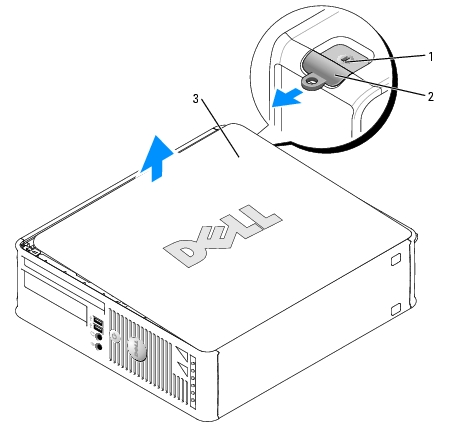 Removing the Computer Cover: Dell OptiPlex 745 User's Guide