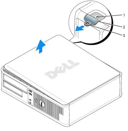 Removing the Computer Cover: Dell OptiPlex 745 User's Guide